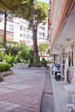 Courtyard inside the hotel complex in Turkish city of Marmaris Royalty Free Stock Images