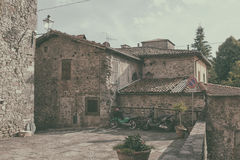 The courtyard in the Italian city Royalty Free Stock Images
