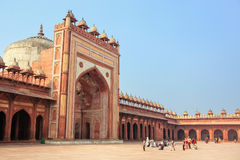 Courtyard of Jama Masjid in Fatehpur Sikri, Uttar Pradesh, India Stock Images