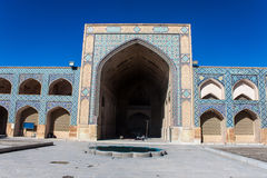 Courtyard of Jameh Mosque in Isfahan Royalty Free Stock Photography