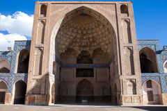 Courtyard of Jameh Mosque in Isfahan Royalty Free Stock Images