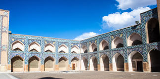 Courtyard of Jameh Mosque Stock Photo