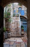 Courtyard  in Jerusalem. Courtyard in the old town in Jerusalem Stock Image