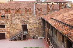 In the courtyard of Juliet's house. Verona, Italy Royalty Free Stock Photography
