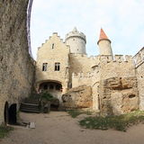 Courtyard of Kokorin castle Royalty Free Stock Images