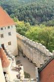 Courtyard of Kokorin castle Stock Images