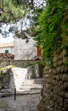 Courtyard in Kotor Royalty Free Stock Images