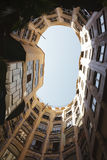 Courtyard of La Pedrera Royalty Free Stock Images