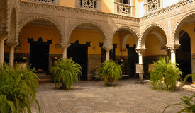 Courtyard Lebrija Palace. The Lebrija Palace can be found in one of Seville city centre's busiest streets, Calle Cuna.  The palace is characterized by its Royalty Free Stock Photography