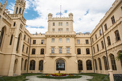 Courtyard of Lednice castle Stock Photography