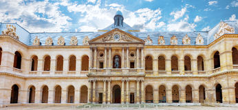 Courtyard of  Les Invalides hotel . Paris, France. Stock Images