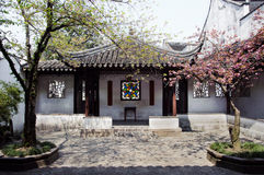 Courtyard at the Lion's Grove garden, Suzhou Stock Images
