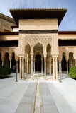 Courtyard of the Lions in the Alhambra Stock Photo