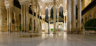 Courtyard of the Lions(Patio de los Leones)in night Royalty Free Stock Image