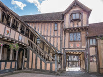 Courtyard at the Lord Leycester hospital Stock Photo