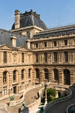Courtyard of Louvre Museum in Paris Stock Photo