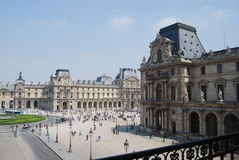 Courtyard of the Louvre. In Paris, France Stock Photography