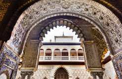 Courtyard Maidens Alcazar Royal Palace Seville Spain Royalty Free Stock Image