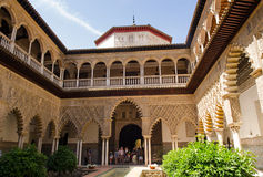 Courtyard of the Maidens, Seville Alcazar Stock Photo