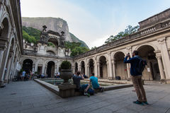 Courtyard of the mansion of Parque Lage in Rio de Janeiro Stock Image