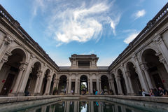 Courtyard of the mansion of Parque Lage in Rio de Janeiro Stock Photo