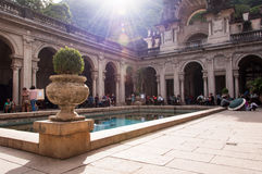Courtyard of the mansion of Parque Lage in Rio de Janeiro, Brazil Royalty Free Stock Photo