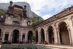 Courtyard of the mansion of Parque Lage in Rio de Janeiro, Brazil Stock Photos