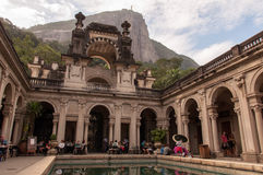 Courtyard of the mansion of Parque Lage in Rio de Janeiro, Brazil Royalty Free Stock Photos