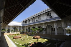 Courtyard of Masjid Sultan Ismail in Chendering, Terengganu Royalty Free Stock Photo