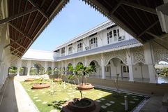 Courtyard of Masjid Sultan Ismail in Chendering, Terengganu Royalty Free Stock Images