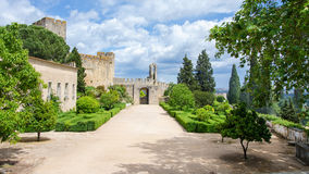 Courtyard of the medieval castle Royalty Free Stock Image