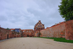 Courtyard of a medieval castle Royalty Free Stock Photography