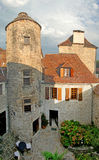 Courtyard of a medieval chateau Stock Image