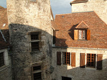Courtyard of a medieval chateau Royalty Free Stock Image