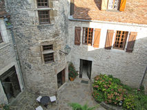 Courtyard of a medieval chateau Royalty Free Stock Photos