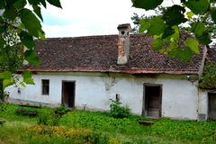 Courtyard of the medieval fortified saxon church in Ungra, Transylvania Royalty Free Stock Images