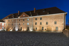 Courtyard of Medieval Gothic castle in Lidzbark Warminski Stock Photography
