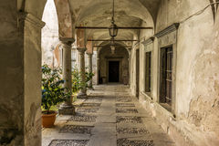 Courtyard on a medieval house Royalty Free Stock Photo