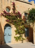 Courtyard in medieval Mdina, Malta. Stock Images