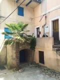 Courtyard of mediterranean home. Old mediterranean courtyard at Adriatic sea at island Krk Royalty Free Stock Photos