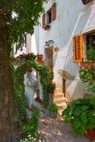 Courtyard of mediterranean house Royalty Free Stock Photo