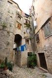 Courtyard in Mediterranean town Royalty Free Stock Photo
