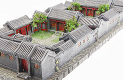 Courtyard model Royalty Free Stock Image