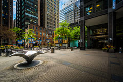 Courtyard and modern buildings in downtown Toronto, Ontario. Stock Photography