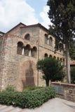 Monasteries in Greece. Courtyard of monasteries in Meteora rocks, Trikala region, Greece royalty free stock photo