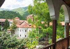 The courtyard of the monastery Bachkovski Stock Photos