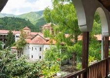 The courtyard of the monastery Bachkovski stock photos
