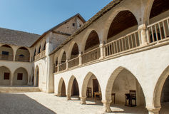 Courtyard of the Monastery of the Holy Cross Royalty Free Stock Photos