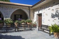 Courtyard of Monastery Kera Kardiotissa, Crete Royalty Free Stock Photography