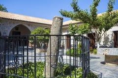Courtyard of Monastery Kera Kardiotissa, Crete Stock Photography